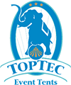 TopTec Event Tents Sticky Logo